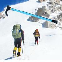 1x Walking Stick Easy Adjustable Aluminum Metal Folding Collapsible Travel Cane