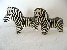 (2) Palatnik Kinetic Chunky Zebra Lucite Acrylic Sculptures Figurines 260785