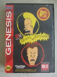 SEGA GENESIS BEAVIS AND BUTT-HEAD OFFICIAL GAME CASE AND MANUAL ONLY