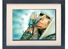 Lady Gaga. High quality framed print and clock