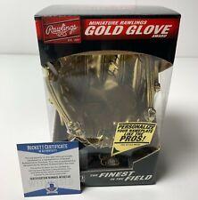 Greg Maddux Signed MLB Replica Mini Gold Glove Braves Cubs Beckett WE82748