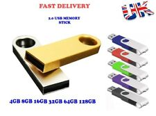 New 8GB 16GB 32GB 64GB 128 Mini Metal USB 2.0 Flash Drive Memory Stick PC Backup