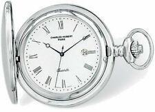 Charles Hubert Stainless Steel White Dial with Date Pocket Watch XWA583