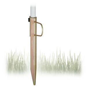 Rasendorn robust, stabil, Bodenhülse Sonnenschirmhalter, Erdspieß bis 32 mm