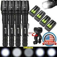900000Lumens Tactical 5 Modes T6 Zoomable Focus 18650 LED Flashlight Torch Light