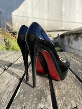 100% Authentic CHRISTIAN LOUBOUTIN Lady Peep 150 in Black size 37