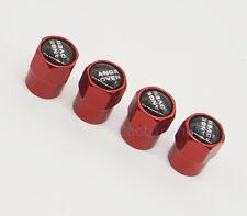 4x Red Car Accessories Wheel Cover Tire Valve Stem Caps Logo for Range Rover