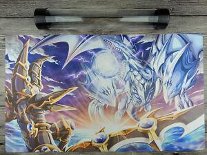 Blue Eyes Ultimate Dragon & Dark Paladin YuGiOh Playmat Free High Quality Tube