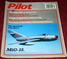Pilot 1989 March Mig-15,Aviasud Mistral