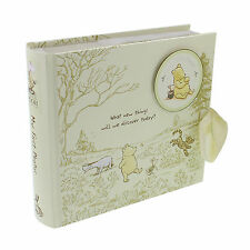 "Photo Album Disney Winnie The Pooh Cream 80 4""x6"" Photos Engraved FOC-MPN DI165"