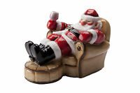 John Beswick Father Christmas Takes a rest Figure  NEW in Gift Box