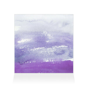 Home Decor Wall Sign Purple and White Watercolor Style E Art Picture Frame