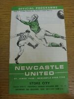 09/01/1971 Newcastle United v Stoke City  (Team changes, marked on front). Condi