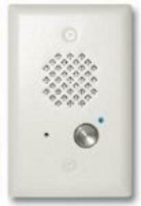 Viking Electronics E-40-WH-EWP Satin White Entry Phone With Automatic Disconnect