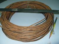 NOS Vintage Best #13AWG Western Electric Waxed Tin Stranded Cloth Wire 6M(#622)