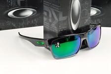 New Oakley Twoface Polished Black with Jade Iridium Lens OO9256-03 Sunglasses
