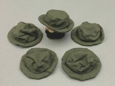 "5 21ST CENTURY TOYS GREEN FABRIC BOONIE HATS FOR 1/6TH SCALE OR 12"" FIGURES"