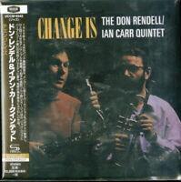 DON RENDELL / IAN CARR QUINTET-CHANGE IS-JAPAN MINI LP SHM-CD Ltd/Ed E25