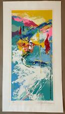 """LEROY NEIMAN """"DOWNHILL"""" Limited Serigraph"""