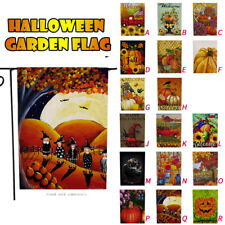 Seasonal Garden Flags Double Sided Halloween Holidays Decorative Lawn Yard Flags