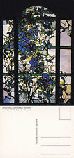 1980's CLEMATIS WINDOW TIFFANY STUDIOS UNUSED COLOUR POSTCARD