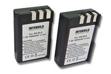 2x INTENSILO BATTERIE 1000mAh pour Nikon D3000 / D5000 / EN-EL9 / EN-EL9a