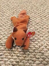 """Mint condition TY BEANIE BABY """"SLY """" THE FOX"""" - 1996. Style 4115. DOB 9/12/96."""