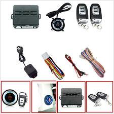 Car Security Vibration Alarm System Engine Ignition Start Push Button Remote Kit