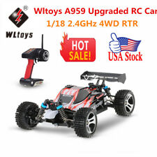 US Wltoys A959 Upgraded Version 1/18 2.4G 4WD RTR Off-Road Buggy RC Car H6Z9
