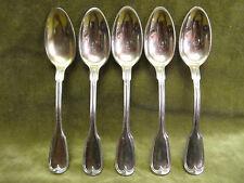 rare 5 cuillères à café argent vermeil strasbourg XVIIIème Fritz (coffee spoons)