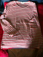 Tee shirt manches longues ARMOR LUX rouge et gris taille 3 plus epais que t shir