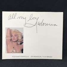 "Vintage All My Love Madonna Post Art Portfolio 6 Images 11"" X 14"" 1991 Post Card"