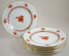 """Herend porcelain chinese bouquet ruggine AOG 7"""" Tè/laterale/pane piastre 1516 x 6 1ST"""