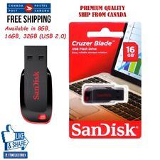 Wholesale Lot 1x-25x New Sandisk 8GB / 16GB / 32GB USB Flash Drive Cruzer Blade!