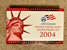 2004 US Mint Silver Proof Set w/ Box & COA