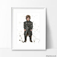 GAME OF THRONES Print Poster Watercolour Framed Canvas Wall Art Print Tyrion