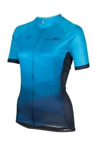 New Sweat Cycle Womens Cycling Jersey - Ocean Blue Jersey - Various Sizes - Blue