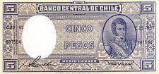 Chile  5  Pesos  ND. 1958  Series C25-95 Uncirculated Banknote SA416