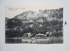 Postkarte Ansichtskarte Sachsen.Bastei-Sächs.Sweiz Blick von Rathen