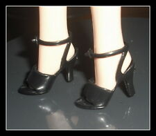 Shoes Barbie Doll I Love Lucy Black Open Toe Strap Sandal High Heel Accessory