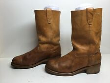 VTG MENS DURANGO SQUARE TOE MOTORCYCLE BROWN BOOTS SIZE 10?