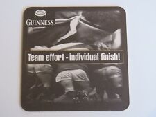 Beer Brewery Coaster ~ GUINNESS Stout ~ Official 1999 Sponsor of RUGBY World Cup