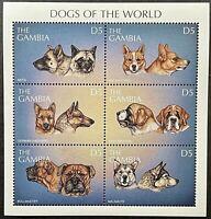 GAMBIA DOGS OF THE WORLD STAMPS 1997 MNH DOG AKITA GERMAN SHEPHERD MALAMUTE