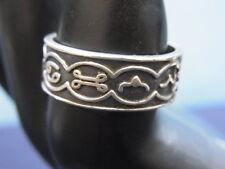 925er Mexico Silberring Ringgroße 58 Breit 8,07mm Gewicht 6,04 gramm