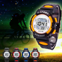 Waterproof Children Boys Sports Watch LED Digital Date Alarm Wrist Watch Eyeful