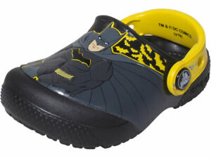 Crocs Toddler/Little Kids Boy's Iconic Batman Clogs Water Shoes Glow In The Dark