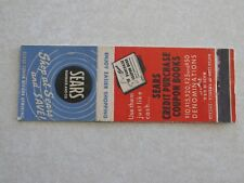 H488 Matchbook Cover Sears Roebuck & Co Coupons