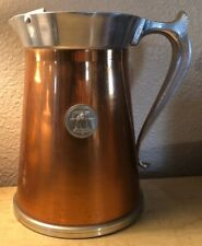 New listing Handcrafted Giftware Leumus Liberty Bell Pitcher Copper Hand Forged Pewter Vase