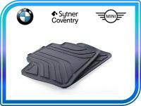 BMW F30 F31 Genuine All-Weather Rubber Rear Car Floor Mats Black 51472219802