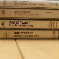 4 X ROD STEWART CASSETTES FOOTLOOSE/EVERY PICTURE/ SING IT AGAIN/ATLANTIC